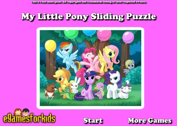 Un puzzle dans l'univers My Little Pony !