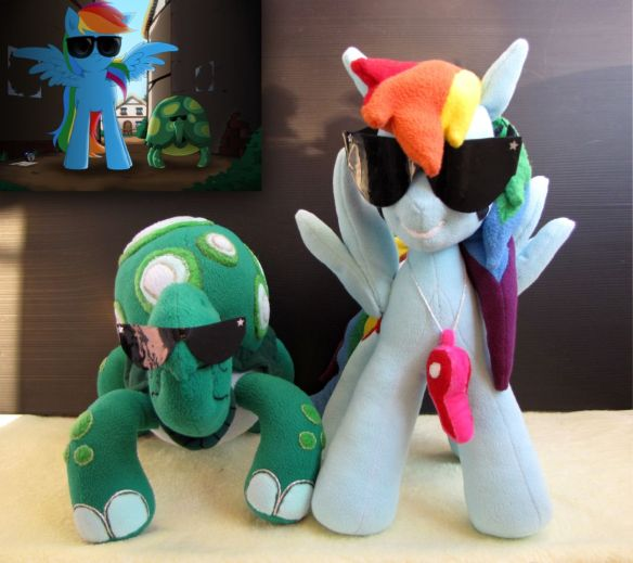 Rainbow Dash et son animal de compagnie Tortue.