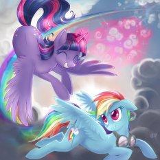 Twilight alicorne peut maintenant voler avec les Pégases, merci qui ?