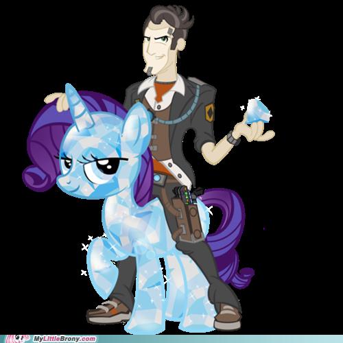 Le Beau Jack sur son poney en cristal, vu par les bronys