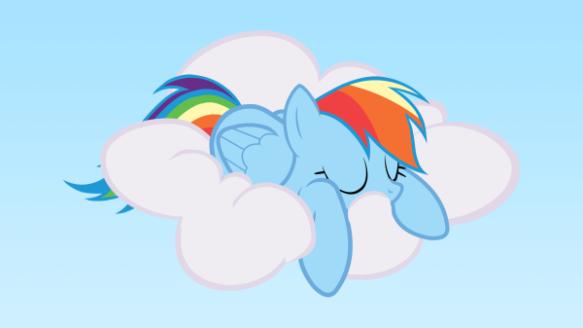 Rainbow Dash en pleine activité !