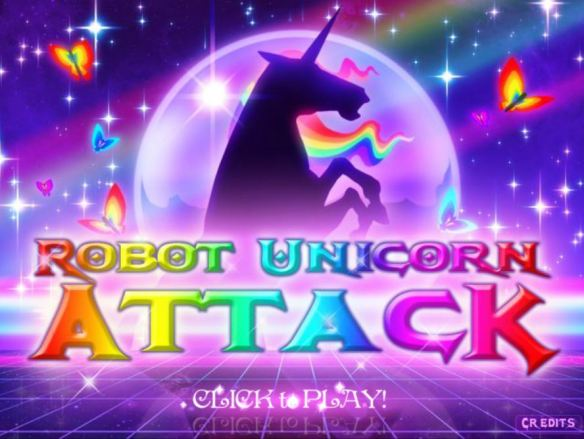 Robot Unicorn Attack disponible dans toutes les bonnes crèmeries !