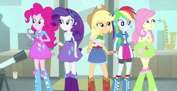 Les manes 6 dans Equestria Girls 2 Rainbow Rocks