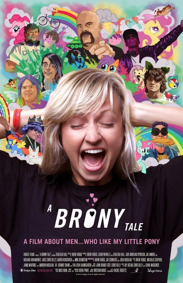 Affiche officielle du film A brony Tale avec Ashleigh Ball, la voix de Apple Jacke et Dashie.