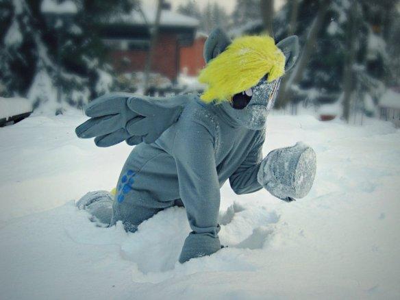 Derpy Hooves fursuit by Tinderboxer