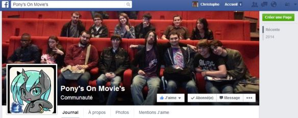 "Page officiel des Pony's On Movie""s"