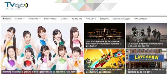 Page d'accueil de Tvqc.com