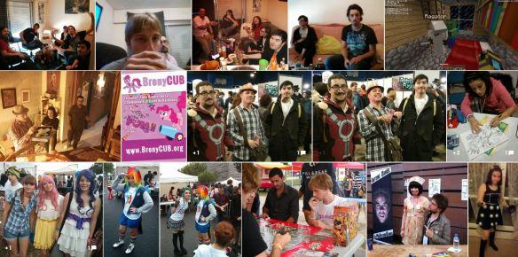 Photos Google+ issues du collectif BronyCUB de la communauté urbaine de Bordeaux en Gironde.