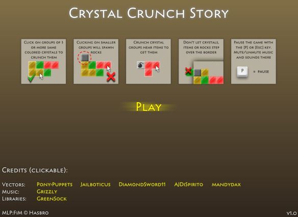 Crystal Crunch Story.