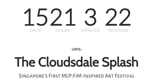 Le site officiel dispose d'un compteur avant la date de l'événement.