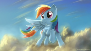 341021__safe_solo_rainbow+dash_wallpaper_cloud_artist-colon-bioniclegahlok