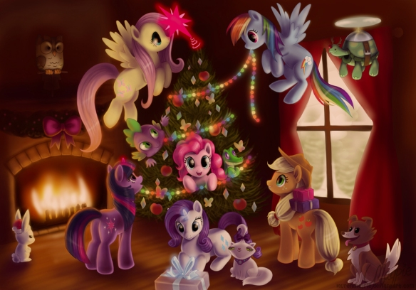 Source : http://laurenmagpie.deviantart.com/art/My-Little-Pony-FiM-Happy-Holidays-274628867