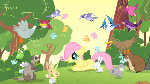 Filly_Fluttershy_surrounded_by_her_new_friends_S1E23
