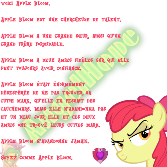 Voici Apple Bloom