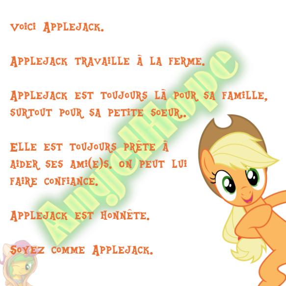 Voici Applejack