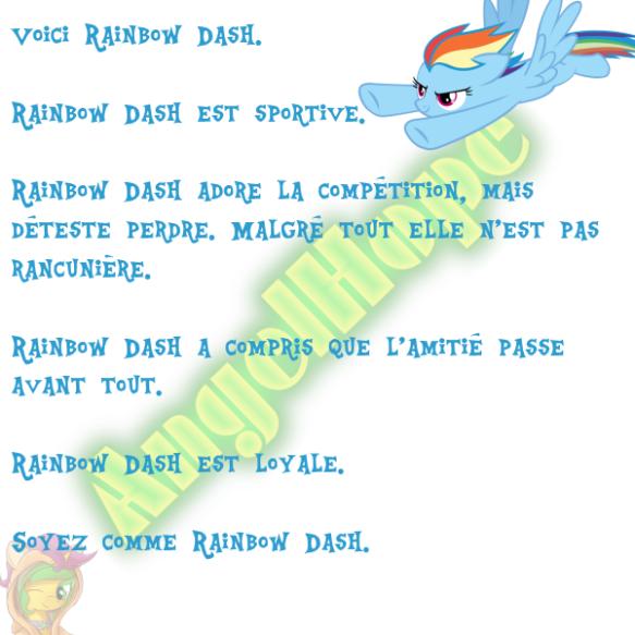 Voici Rainbow Dash