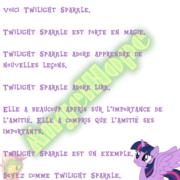 Voici Twilight Sparkle