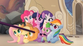 MLP_The_Movie_Multikino_-_Mane_Six_and_Spike_huddled_together